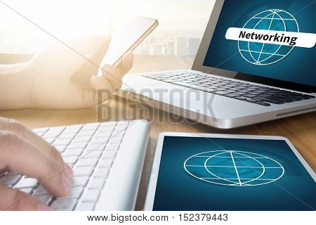 Global Communication Connection Networking Global world  business