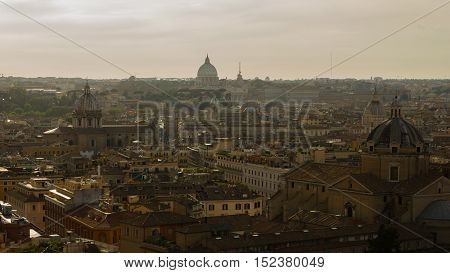 Under the evening light Rome appears to be eternal, an ancient city unspoiled and a beautiful tourist destination for a great hollyday.