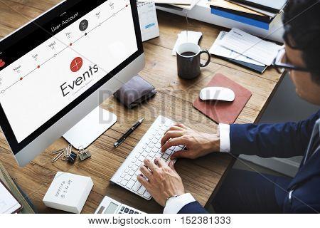 Events Appointment Calendar Concept