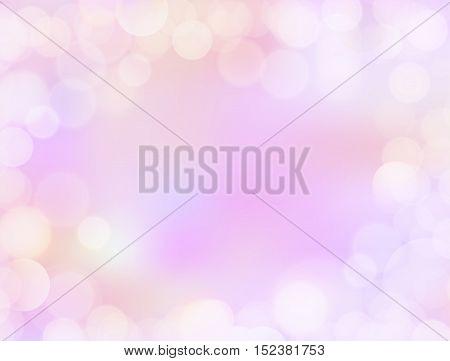 Purple Gradient Blank Christmas Background With Bokeh Border