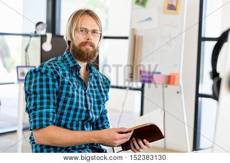 Young man working in office