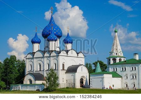 Suzdal Kremlin, Russia. Gold ring of Russia.