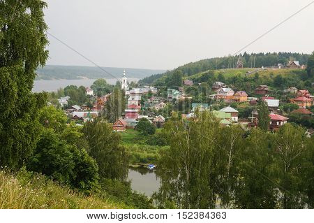 Ples town on the Volga river. Golden Ring of Russia.