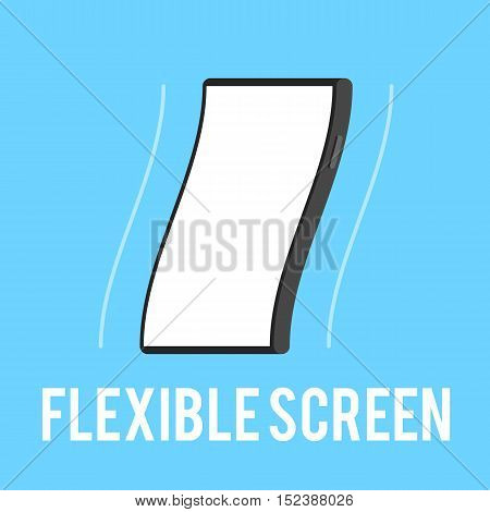Flexible smartphone screen. The technology concept a flexible touchscreen. Vector illustration in flat style trend