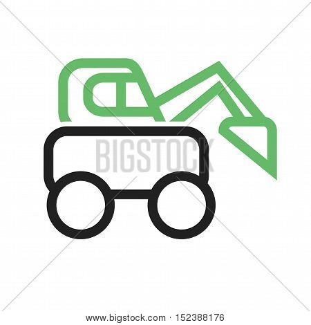 Construction, truck, excavator icon vector image. Can also be used for vehicles. Suitable for mobile apps, web apps and print media.