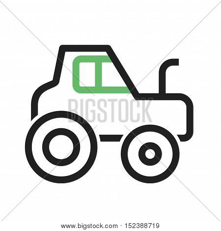 Tractor, farm, field icon vector image. Can also be used for vehicles. Suitable for mobile apps, web apps and print media.