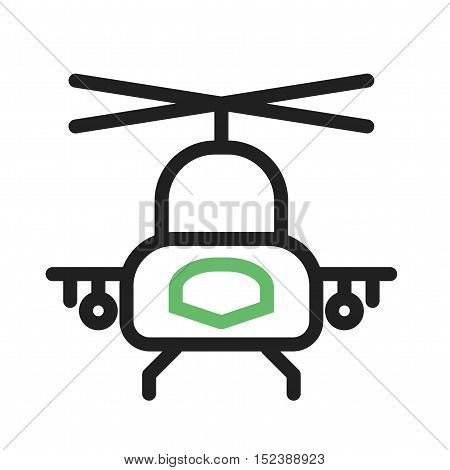 Helicopter, military, rescue icon vector image. Can also be used for vehicles. Suitable for use on web apps, mobile apps and print media.