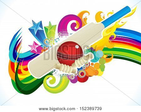 abstract artistic colorful cricket background vector illustration