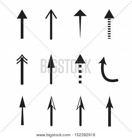 Up Arrows vector icon set. Up Arrows icon set on white background.