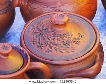 The pottery made of environmentally friendly material