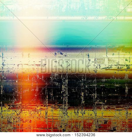 Decorative vintage texture or creative grunge background with different color patterns: yellow (beige); green; blue; red (orange); black; white