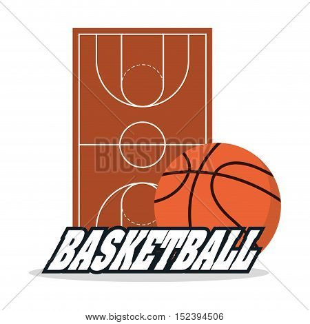 Ball and league icon. Basketball sport hobby and competition theme. Colorful design. Vector illustration