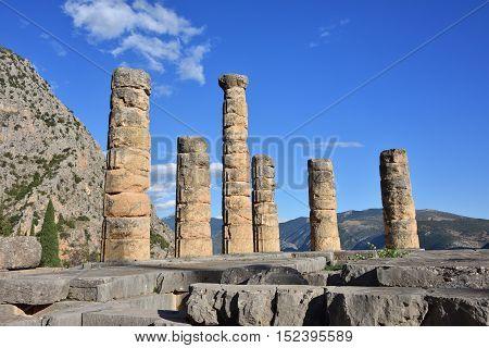 Apollo Temple In Delphi, Greece