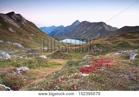 autumn in Alps by Schrecksee Bavaria Germany