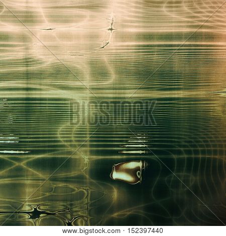 Vintage background with dirty grungy texture or overlay and different color patterns: yellow (beige); brown; gray; green