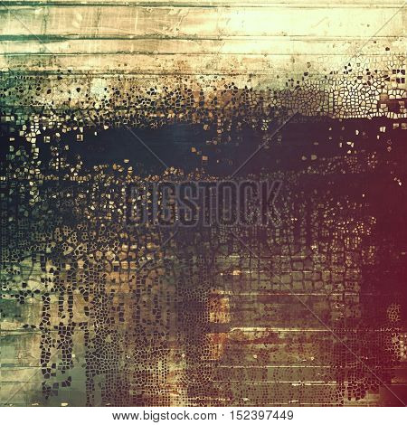 Abstract grunge background or aged texture. Old school backdrop with vintage feeling and different color patterns: yellow (beige); brown; gray; green; purple (violet); black