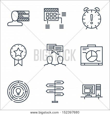 Set Of Project Management Icons On Time Management, Board And Opportunity Topics. Editable Vector Il