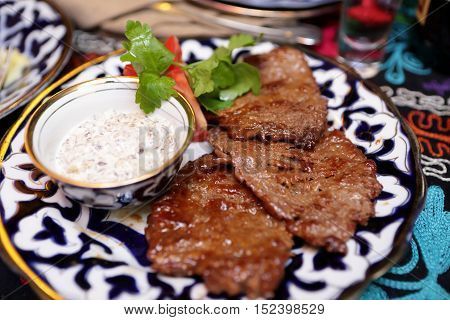 Plate With Veal Medallions