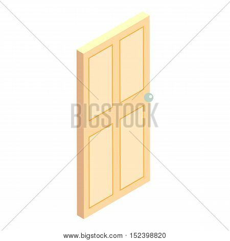 Office door icon. Cartoon illustration of door vector icon for web design
