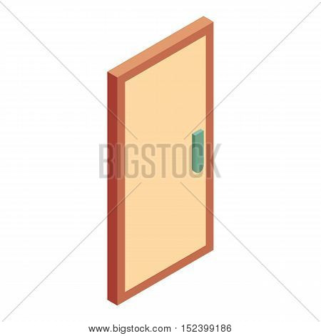 Office wooden door icon. Cartoon illustration of door vector icon for web design