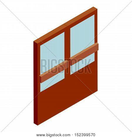 Double supermarket door icon. Cartoon illustration of door vector icon for web design