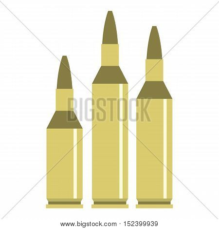 Bullet ammunition icon. Flat illustration of bullet vector icon for web design