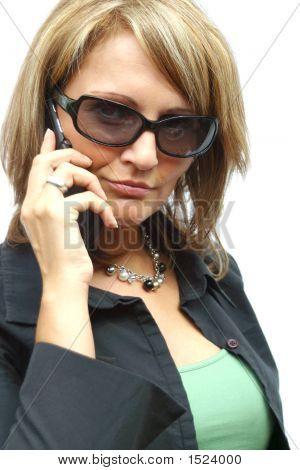 RNa Beautiful Business Woman With PhoneRN
