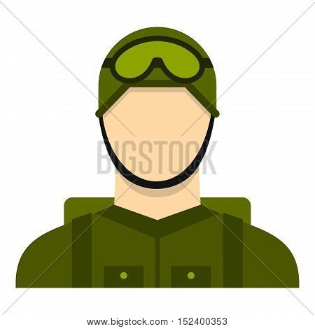 Military paratrooper icon. Flat illustration of paratrooper vector icon for web design
