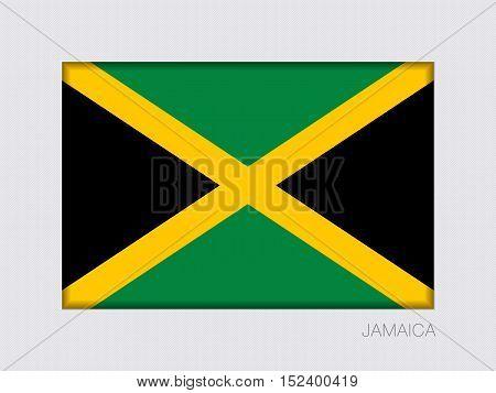 Flag Of Jamaica. Aspect Ratio 2 To 3. Rectangular Official Flag