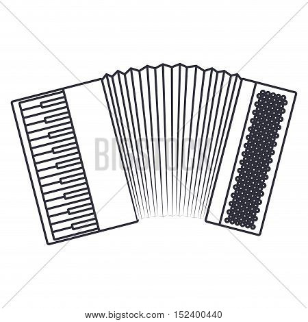 Accordion icon. Instrument music sound and musical theme. Isolated design. Vector illustration