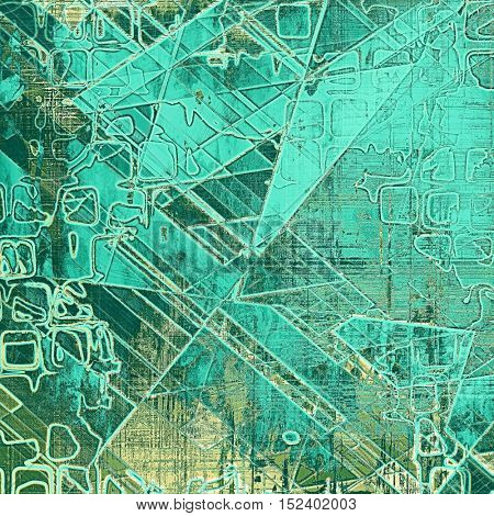 Geometric grunge background for a creative vintage style poster. With different color patterns: yellow (beige); gray; green; blue; cyan