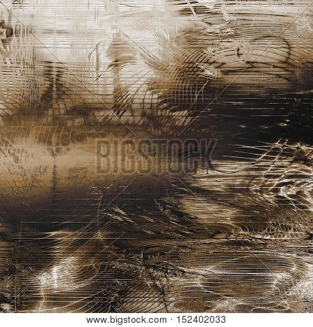 Retro background with vintage style design elements, scratched grunge texture, and different color patterns: yellow (beige); brown; gray; black; white