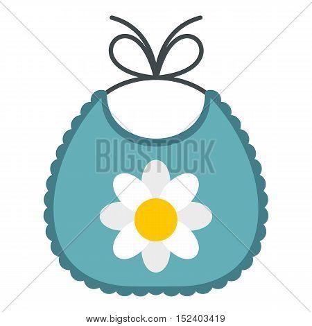 Baby bib icon. Flat illustration of baby bib vector icon for web design
