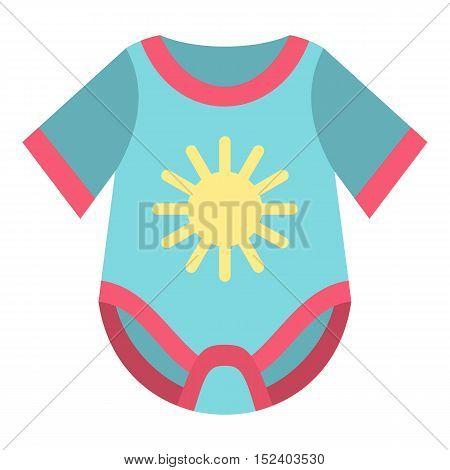 Baby bodysuit icon. Flat illustration of baby bodysuit vector icon for web design