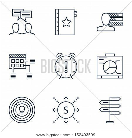 Set Of Project Management Icons On Personal Skills, Warranty And Opportunity Topics. Editable Vector