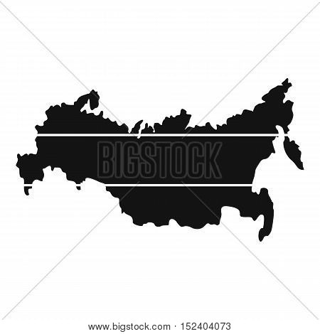 Map of Russia icon. Simple illustration of map of Russia vector icon for web