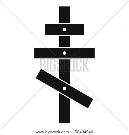 Orthodox cross icon. Simple illustration of orthodox cross vector icon for web