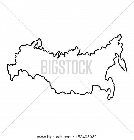 Russia map icon. Outline illustration of russia map vector icon for web
