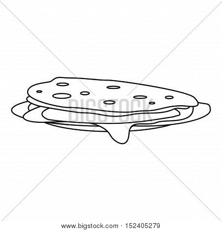 Pancakes icon. Outline illustration of pancakes vector icon for web