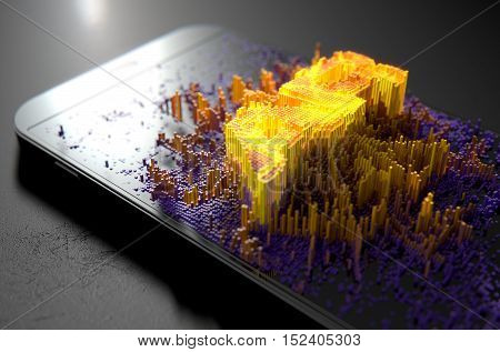 Smart Phone Emanating Augmented Reality