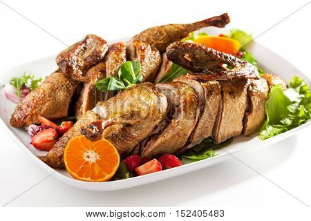 Roast Stuffed Duck with Fruit and Berry