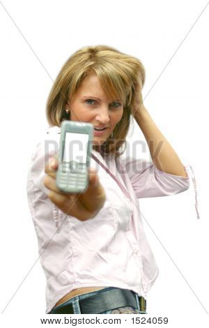 A Beautiful Woman With Phone - Summer Time