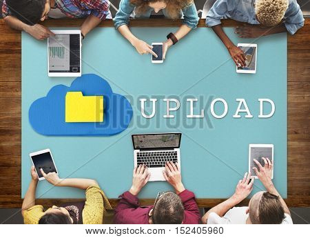 Technology Upload Loading Data Concept