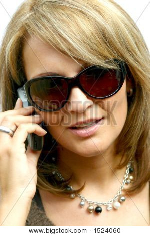 A Beautiful Business Woman With Phone