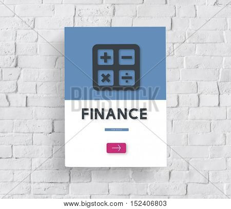 Finance Accounting Calculating Budget Concept