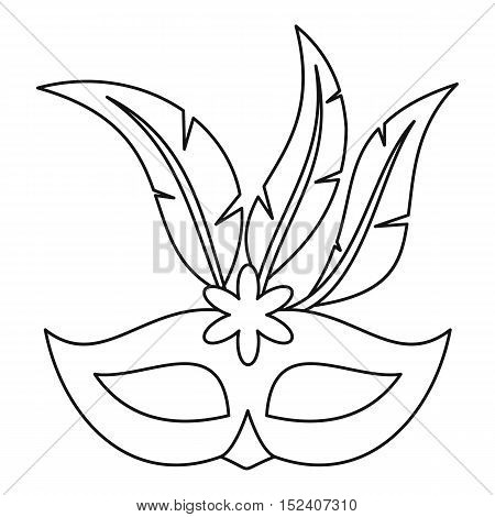 Festive carnival mask icon. Outline illustration of festive carnival mask vector icon for web