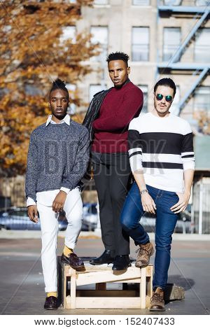 Three young models together in New York city