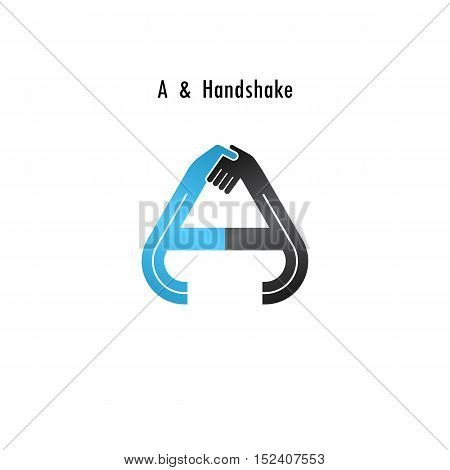A- letter icon abstract logo design vector template.Business offerpartnership icon.Corporate business and industrial logotype symbol.Vector illustration
