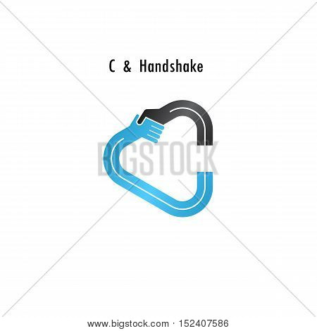 C- letter icon abstract logo design vector template.Business offerpartnership icon.Corporate business and industrial logotype symbol.Vector illustration