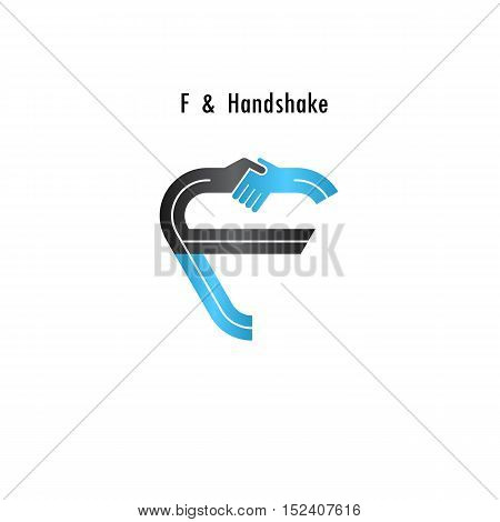 F- letter icon abstract logo design vector template.Business offerpartnership icon.Corporate business and industrial logotype symbol.Vector illustration
